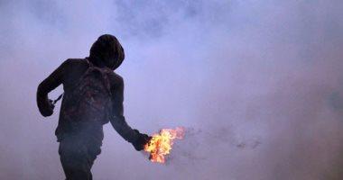 عامل يقتل شاب بحرقه باستخدام زجاجة مولوتوف فى أحد شوارع كرداسة
