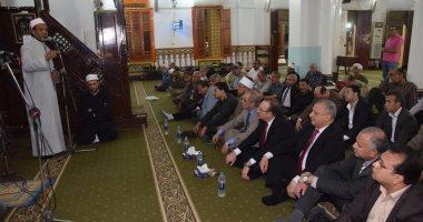 محافظ بنى سويف ومدير الأمن يشهدان الاحتفال بذكرى الإسراء والمعراج