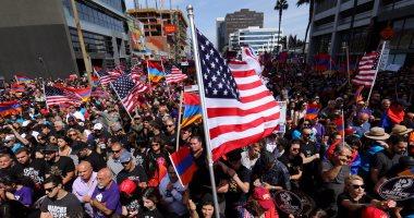 بالصور.. تظاهرات بلوس أنجلوس فى أمريكا لإحياء الذكرى الـ102 لـمذابح الأرمن