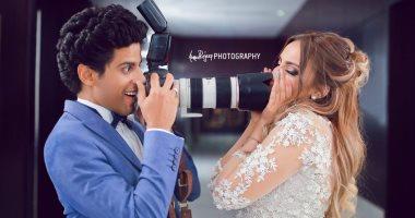شاهد صور جلسة تصوير زفاف حمدى الميرغنى وإسراء عبد الفتاح