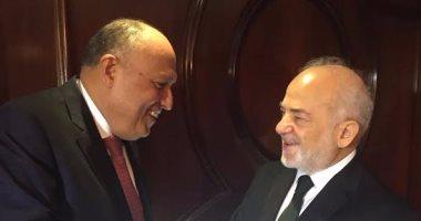 سامح شكرى يتفق مع نظيره العراقى على عقد اجتماعات اللجنة المشتركة بين البلدين