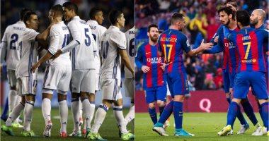 """انطلاق كلاسيكو برشلونة وريال مدريد بالسوبر الإسبانى على """"أون سبورت"""" -"""