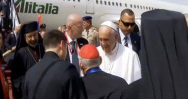 صفحة الأزهر تنشر فيديو لوصول بابا الفاتيكان: خطوة جديدة لتحقيق السلام