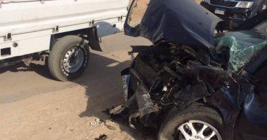 إصابة مأمور سجن شبين الكوم وسائقه إثر حادث تصادم بالطريق الزراعى