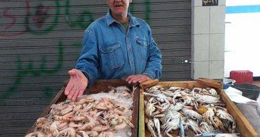 بالصور.. انخفاض 50% فى أسعار  الأسماك بالسويس قبل أيام من رمضان