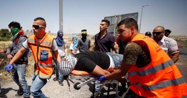 إصابة 7 فلسطينيين فى مواجهات مع قوات الاحتلال قرب مدينة رام الله
