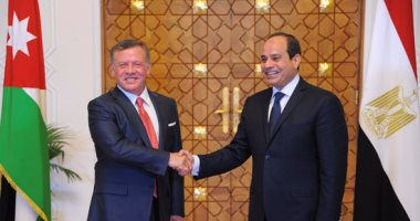 الرئيس السيسى ونظيره الأردنى