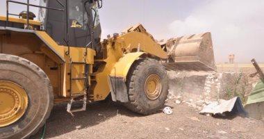 بالصور.. إزالة التعديات على 9 آلاف فدان و41 ألف متر  مربع بمراكز بورسعيد