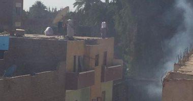 السيطرة على حريق بــ 4 منازل وحوشين بطهطا شمال سوهاج