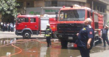 الحماية المدنية تسيطر على حريق ورشة نجارة فى السلام دون إصابات
