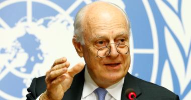 """بالصور.. المبعوث الأممى لسوريا يعلن انتهاء مفاوضات """"جنيف 6"""""""