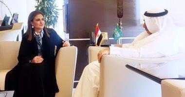 سحر نصر تبحث مع وزير الاقتصاد السعودى إقامة مشروعات مشتركة بين البلدين وتعزيز الاستثمارات