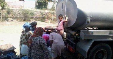 بالصور.. أهالى كفر صقر بالشرقية يعانون انقطاع مياه الشرب