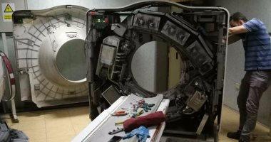 بدء عملية إصلاح جهاز الأشعة المقطعية بمستشفى بنى سويف.. وتشغيله فى يونيو