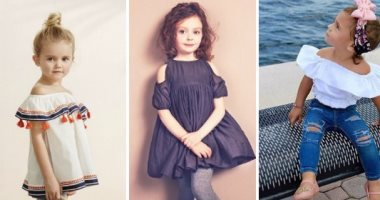 4b081a8e43b84 بالصور.. الـOff Shoulder أحدث صيحات موضة ملابس الأطفال للفتيات ...