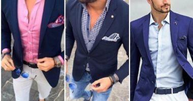 b6822fbd075a2 قاموس الموضة الرجالى..بالصور..إزاى تلبس البليزر الكحلى بـ 5 طرق مختلفة