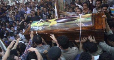 أحد جثمان شهداء حادث المنيا الإرهابى