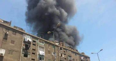 حريق هائل - فى سوق ملابس فى حى إمبابة بالجيزة 201705261133513351