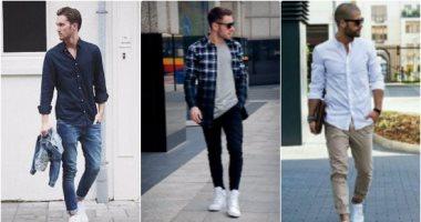 c5acedbb0 قاموس الموضة الرجالى..بالصور..ازاى تلبس الكوتشى الأبيض بـ 5 طرق ...