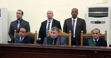 هيئة المحكمة برئاسة المستشار حسن فريد
