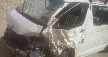 إصابة 6 طلاب إثر انقلاب سيارة سوزوكى بمدينة 6 أكتوبر