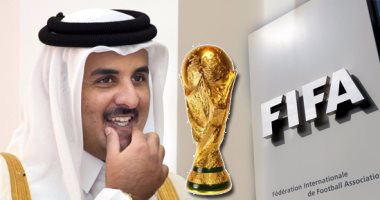 شعار الفيفا وكأس العالم وتميم بن حمد أمير قطر