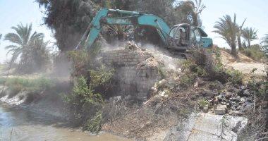 الرى: إزالة تعديات على النيل بمحافظتى الدقهلية والغربية بمعرفة المخالفين