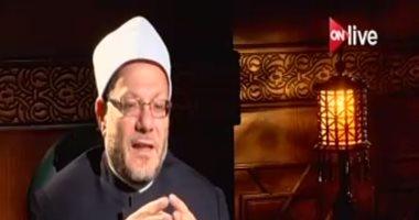 """مفتى الجمهورية: المسلمون ليسوا دعاة حرب بل """"سلام"""""""