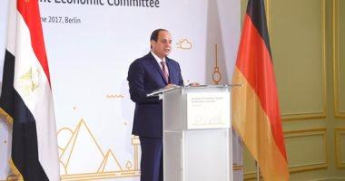 السيسي من برلين: الدولة تعمل جاهدة لتخفيف الآثار التضخمية لبرنامج الإصلاح