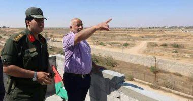 الوفد الأمنى والدبلوماسى المصرى فى غزة يتفقد حدود القطاع المشتركة مع سيناء