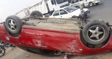 مصرع 4 وإصابة 12 شخصا فى انقلاب سيارة بالمنيا