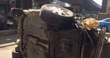 النيابة تطلب تحريات المباحث حول واقعة سقوط سيارة أعلى كوبرى أكتوبر