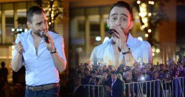 """حسام حبيب يشعل حفل """"الخيمة"""" بمول مصر"""