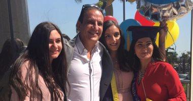 "بالصور.. طارق علام ودينا رامز يحتفلان بتخرج ابنتهما ""يسر"""