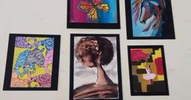 بالصور .. مكتبة المستقبل تستضيف 23 لوحة فنية ترصد تطور الفن التشكيلى المصرى