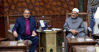 بالفيديو.. وفد الكنيسة الإنجيلية يهنئ الإمام الأكبر بعيد الفطر المبارك