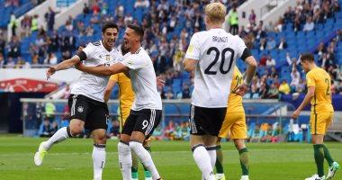 شاهد.. ألمانيا تتفوق على أستراليا 1/2 فى الشوط الأول بكأس القارات