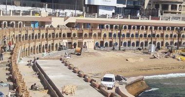 بالفيديو والصور.. نرصد تطوير كبائن ستنالى السياحية بالإسكندرية من خرابة لتحفة معمارية