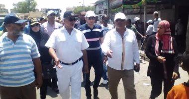 إزاله 123 حالة تعدى على أملاك الدولة بمنطقة القنال  ببورسعيد