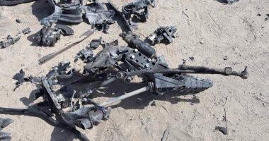 ننشر أول صور للسيارة المفخخة بعد تفجيرها من قبل قوات كمين العريش
