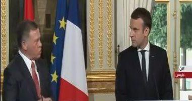 العاهل الأردنى: العلاقة بين فرنسا والأردن تاريخية