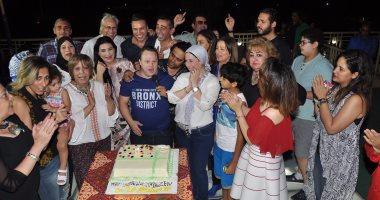 المذيع محمد السماحى ونجوم الفن يحتفلون بعيد ميلاد مازن السماحى