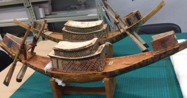 بالصور.. المتحف الكبير يستقبل مجموعة جديدة من آثار الملك توت عنخ آمون