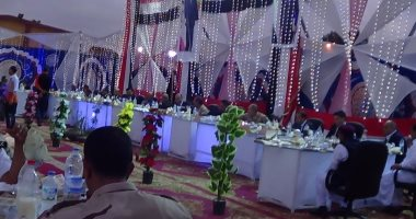 بالفيديو والصور.. بحضور المحافظ والقيادات..مديرية أمن مطروح تنظم حفل إفطار وليلة رمضانية