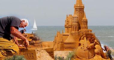 """مهرجان """" ديزنى ماجيك للنحت على الرمال"""" ببلجيكا"""