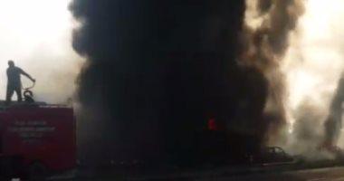 """السيطرة على """"حريق الصوبة"""" فى وزارة الزراعة بالدقى"""