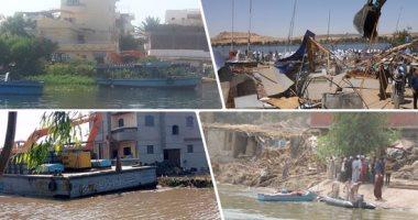 الرى: تنفيذ 8 قرارات إزالة لتعديات على النيل فى محافظة قنا