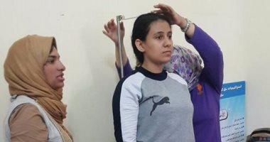 بالصور..بدء الكشف الطبى لاختبار القدرات بكلية تربية رياضية بنات بالإسكندرية