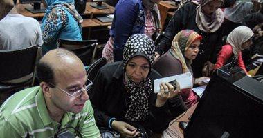 إقبال كبير على معامل جامعة القاهرة للتسجيل فى تنسيق المرحلة الثالثة 2017
