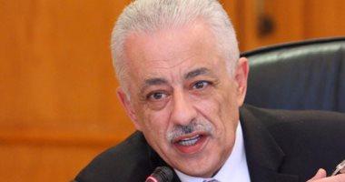 وزير التربية والتعليم ينعى شهداء الشرطة فى حادث العريش